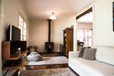 Nannup Bush Retreat - Spacious living room to enjoy a glass of wine in front of the fire