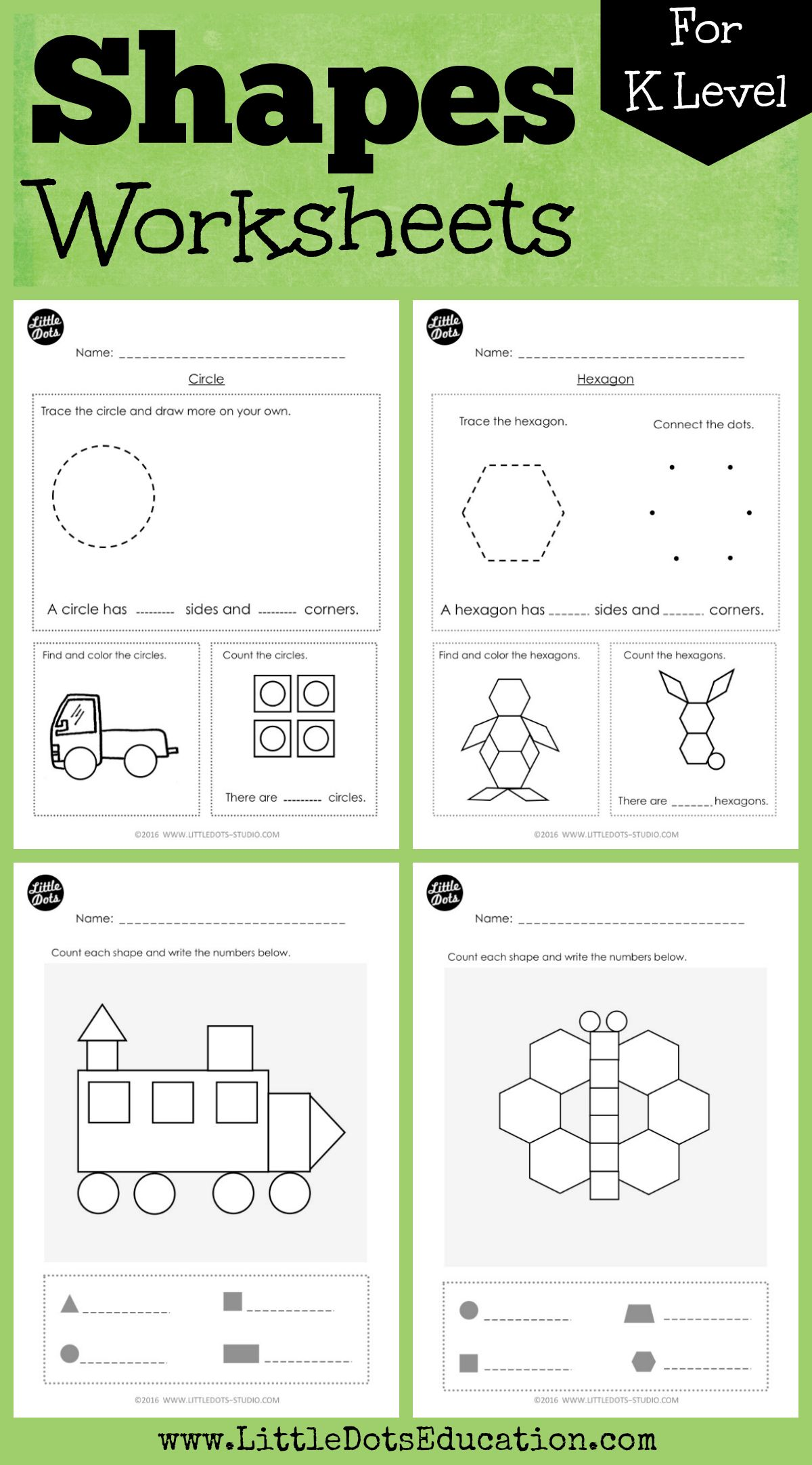 21 Best Preschool Shapes Worksheets Images On Best