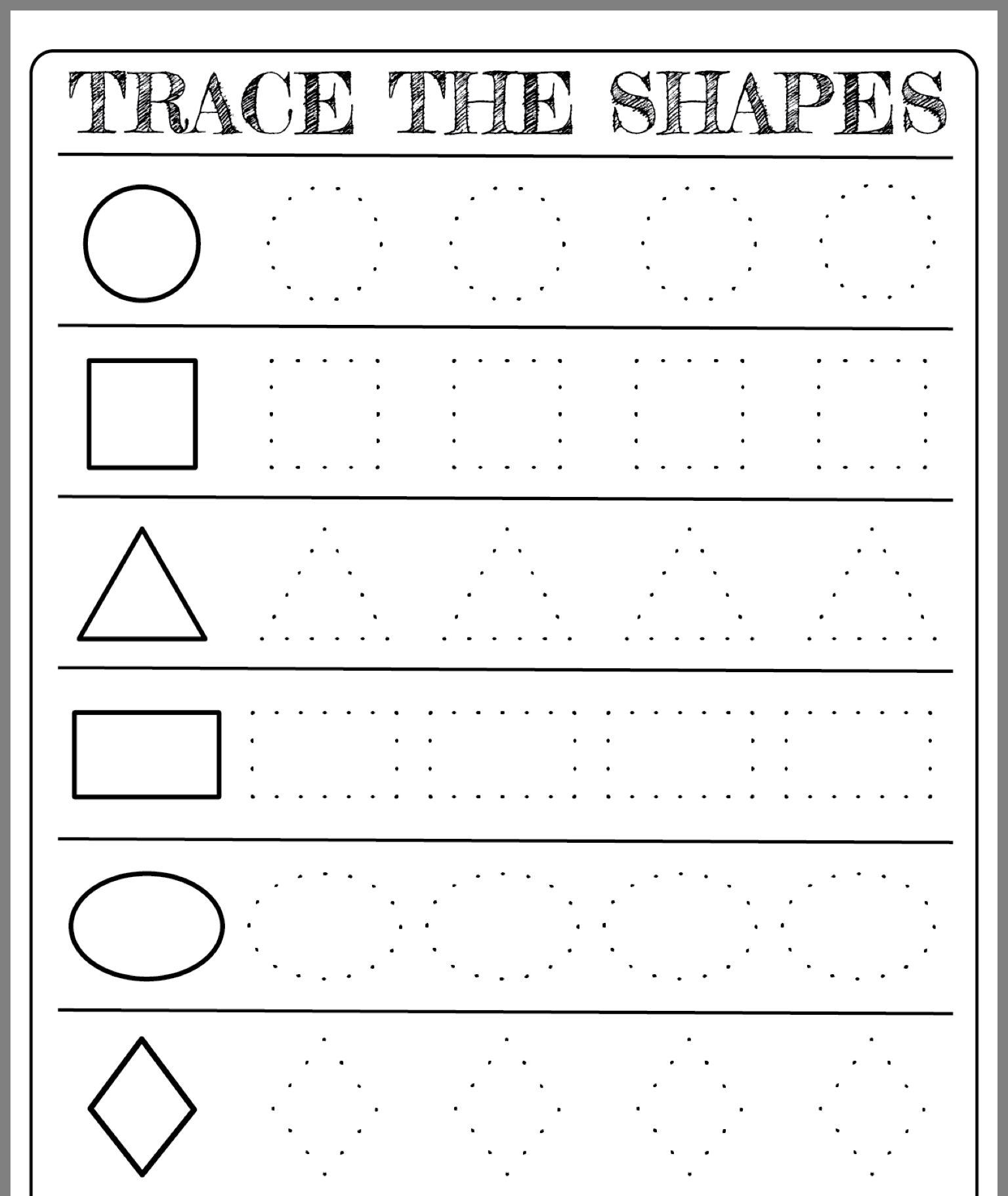 22 Best Tracing Shapes Worksheets Images On Best
