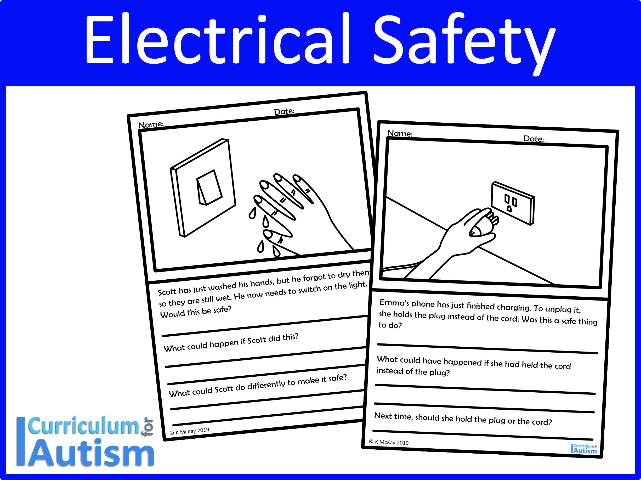 Electrical Safety Worksheets For Your Autism