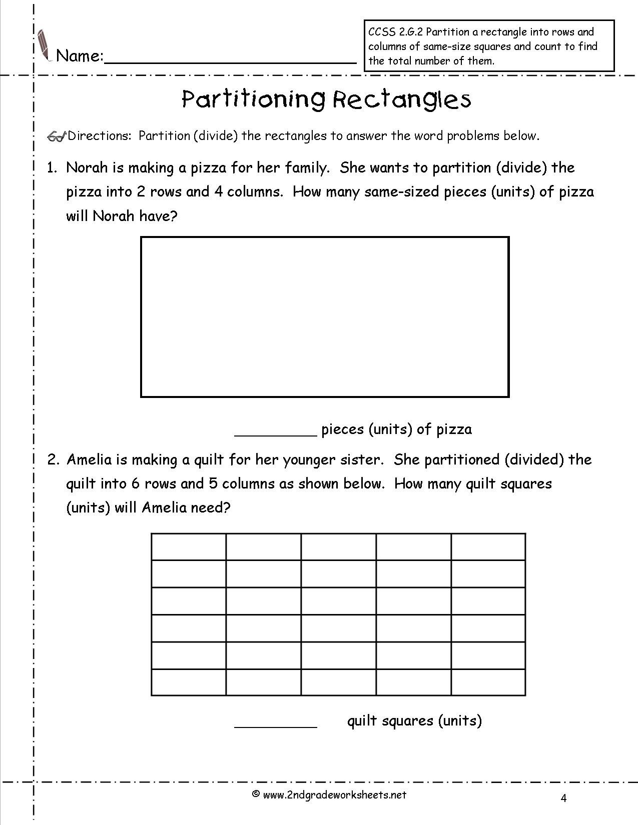 Free Common Core 2nd Grade Worksheets Tied To Individual