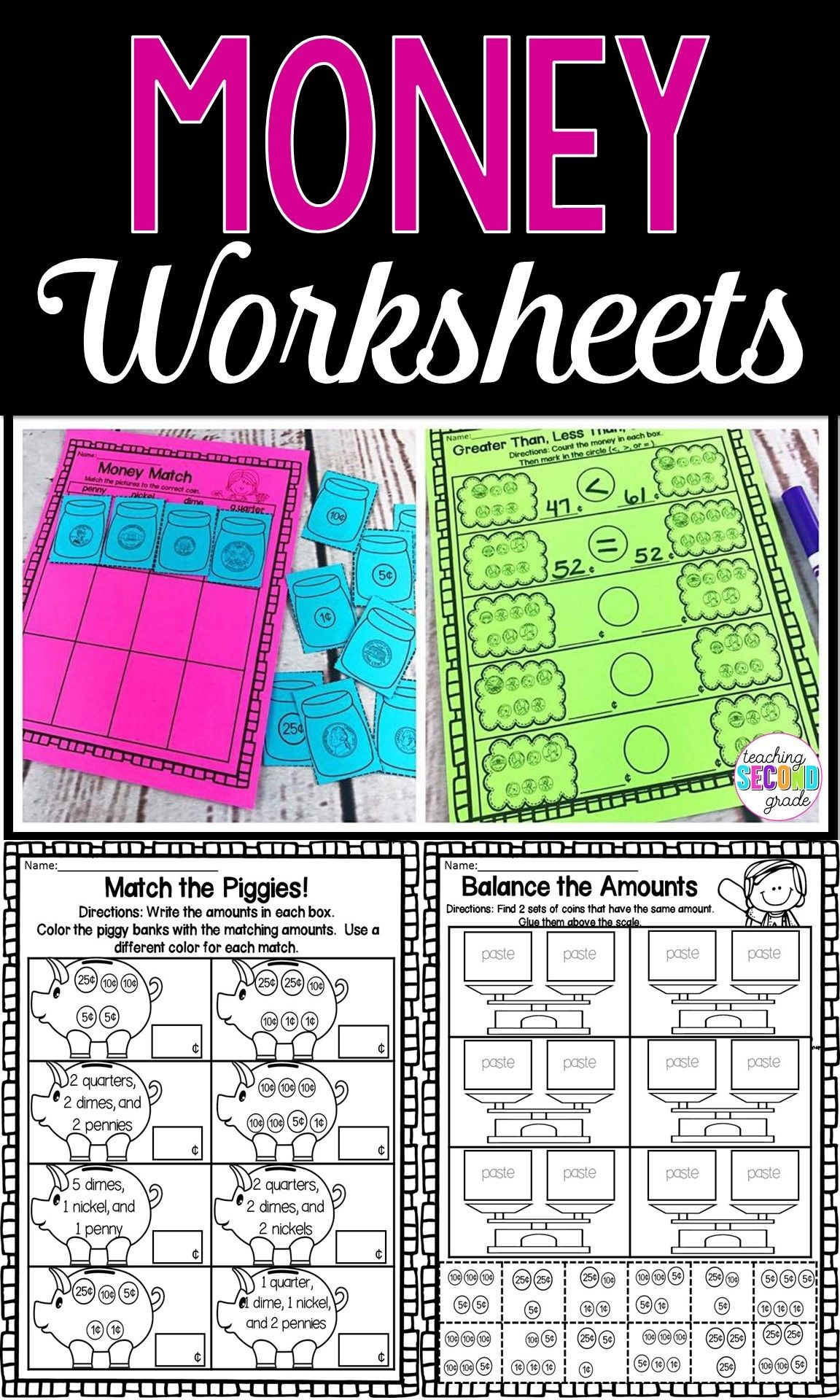 18 Best Learning Money Worksheets Images On Best