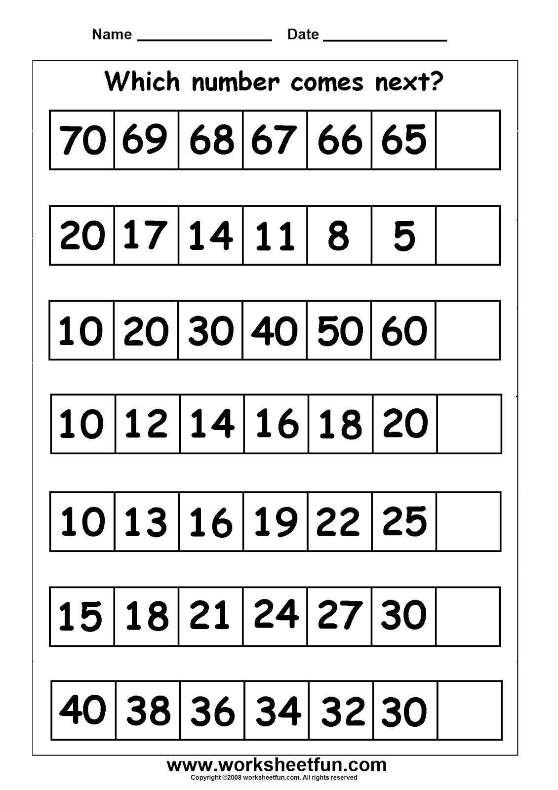 Grade Level Worksheets