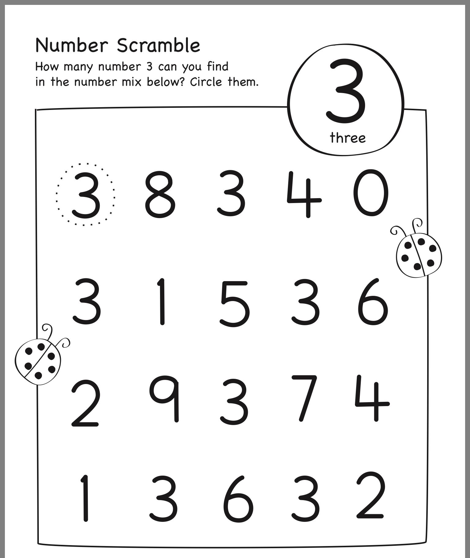 17 Best Kindergarten Counting Worksheets 1 5 Images On