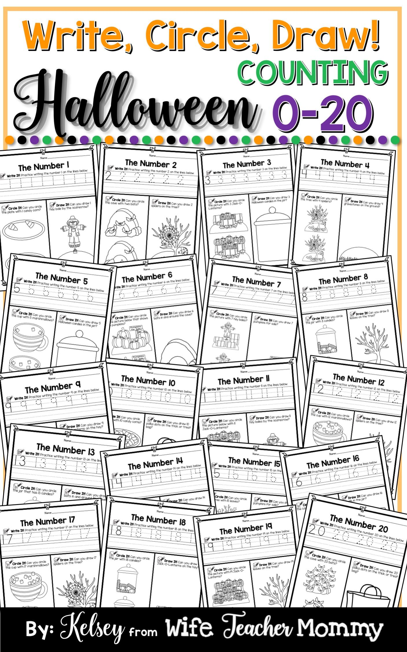 Halloween Number Worksheets 0 20 Counting Worksheets