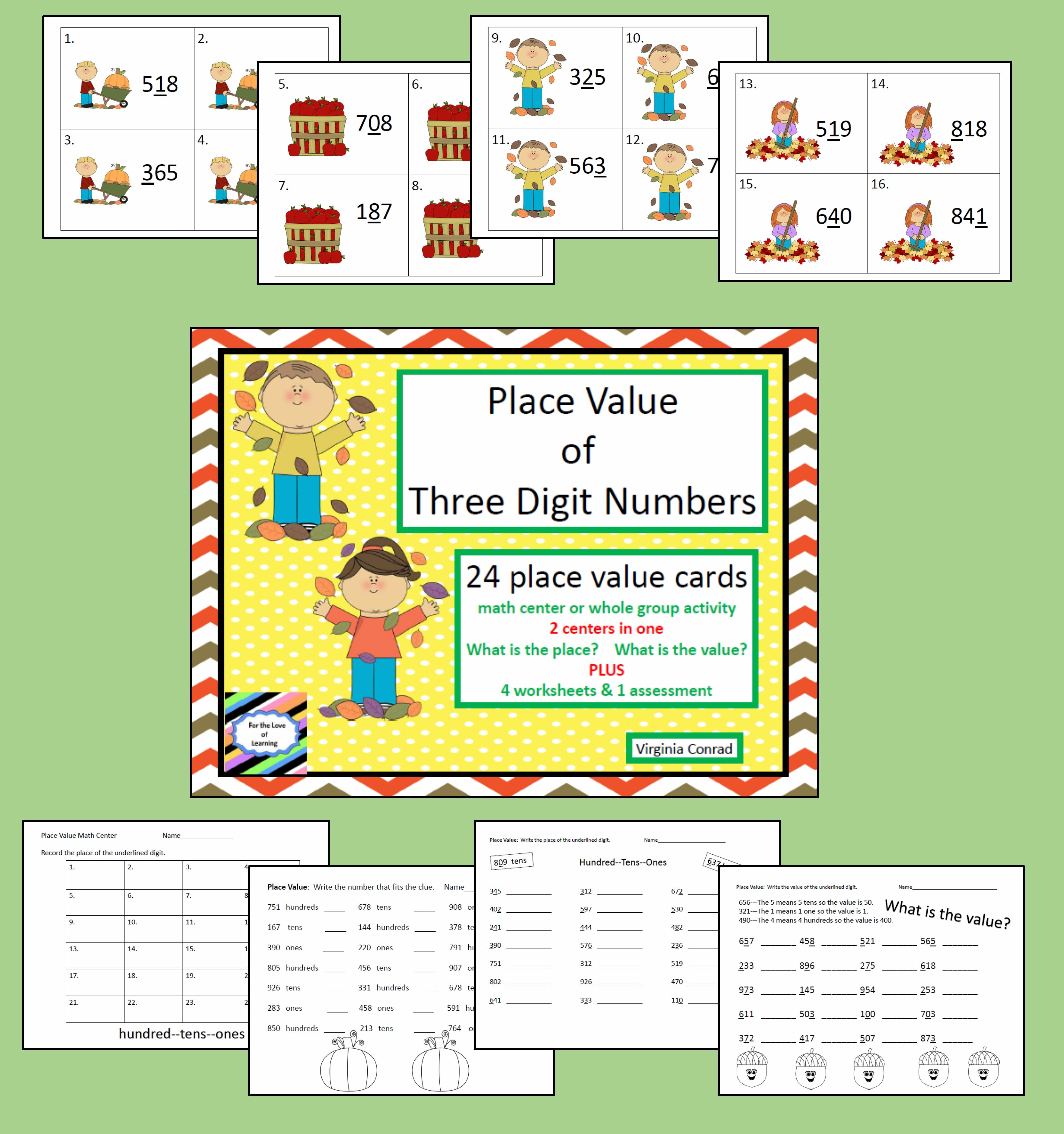 Place Value Fall Theme