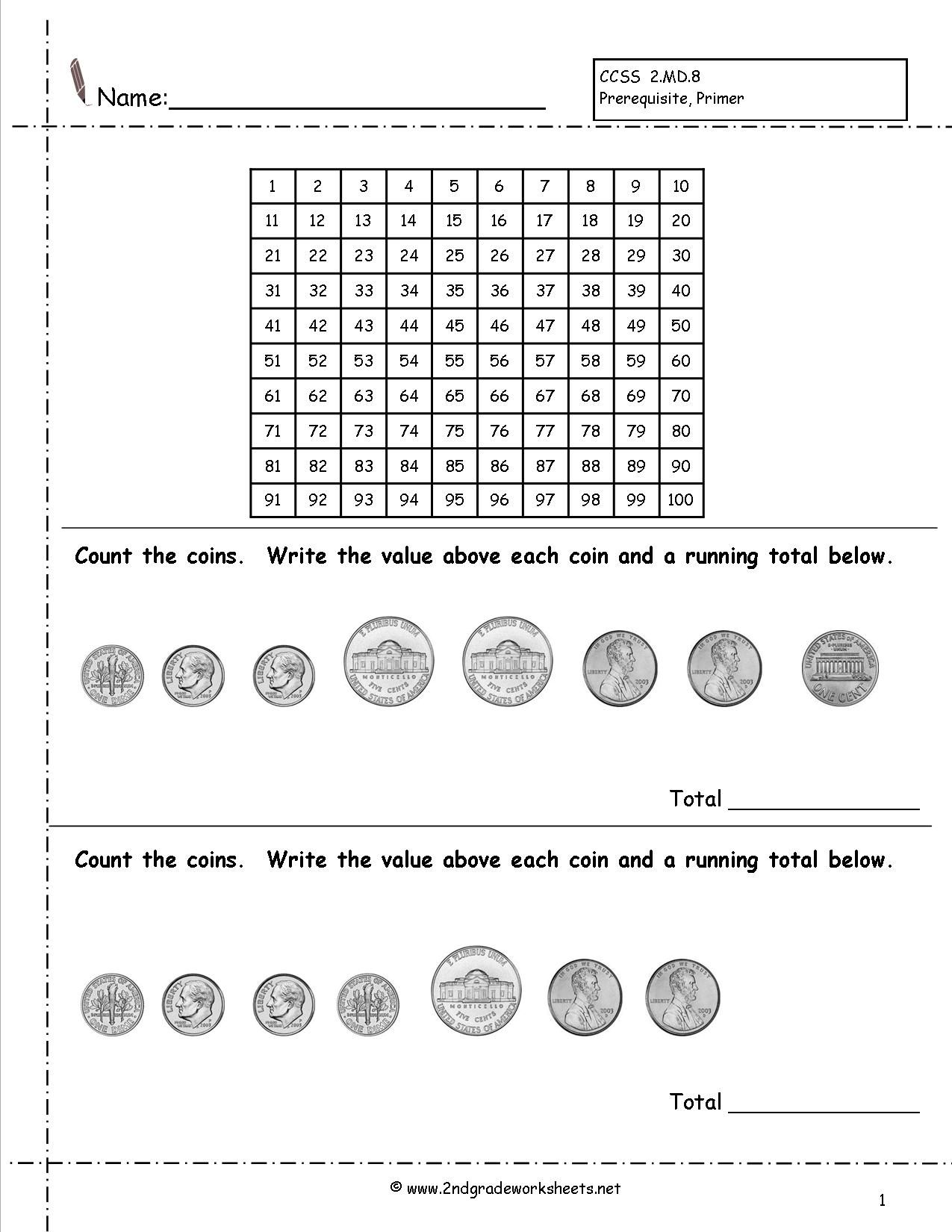 17 Best Counting Coins Worksheets For Kindergarten Images