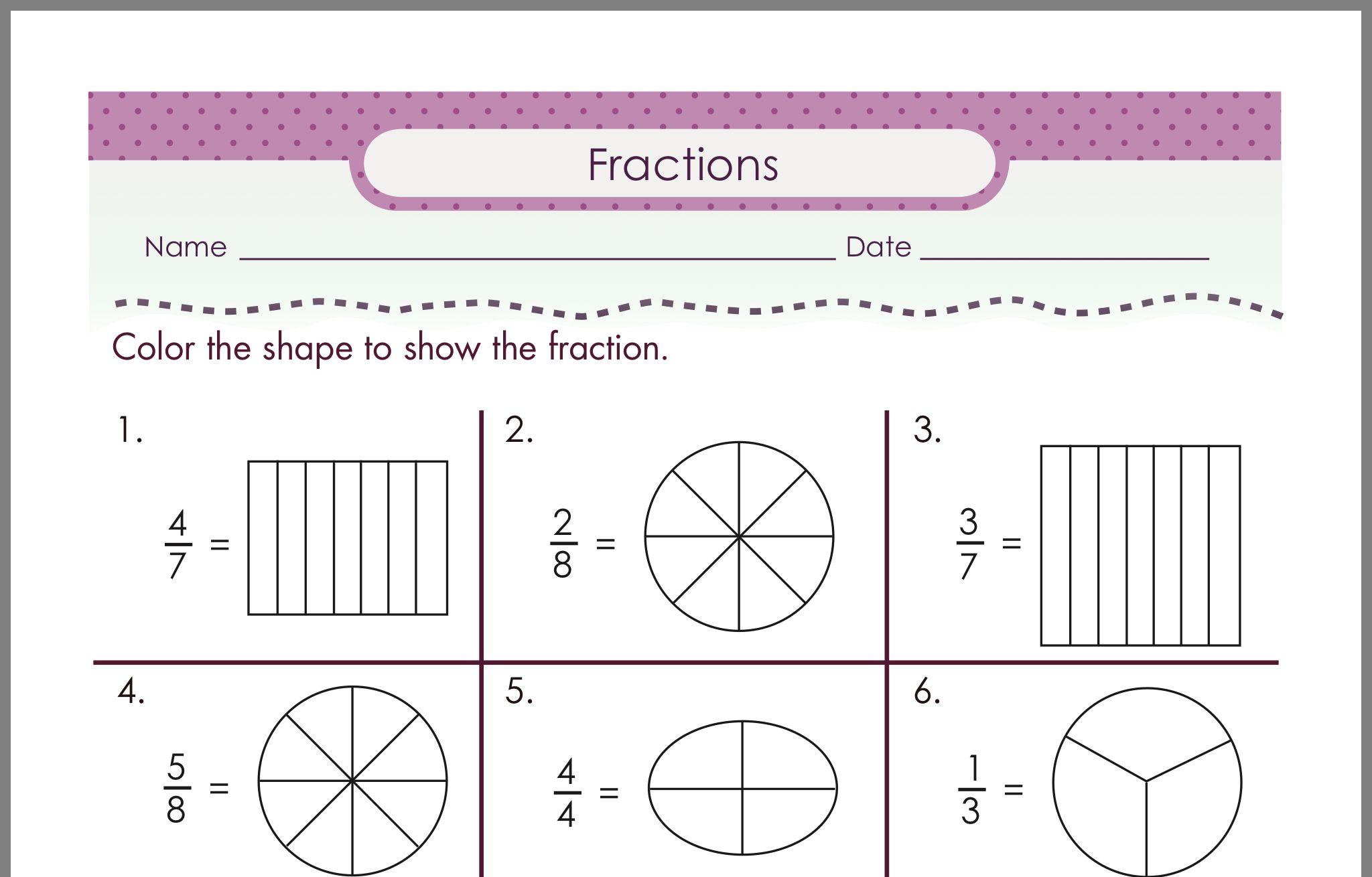 20 Best Fractions Worksheets Images On Best Worksheets