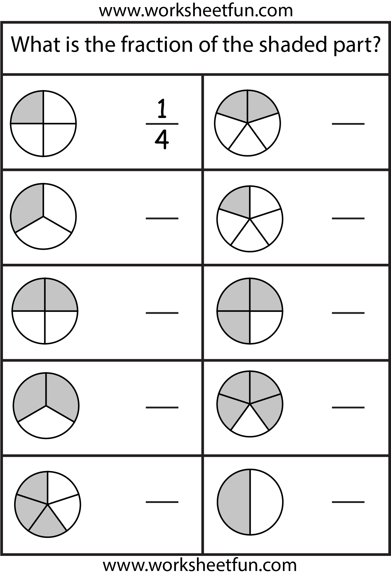 21 Best Beginning Fraction Worksheets To Print Images On