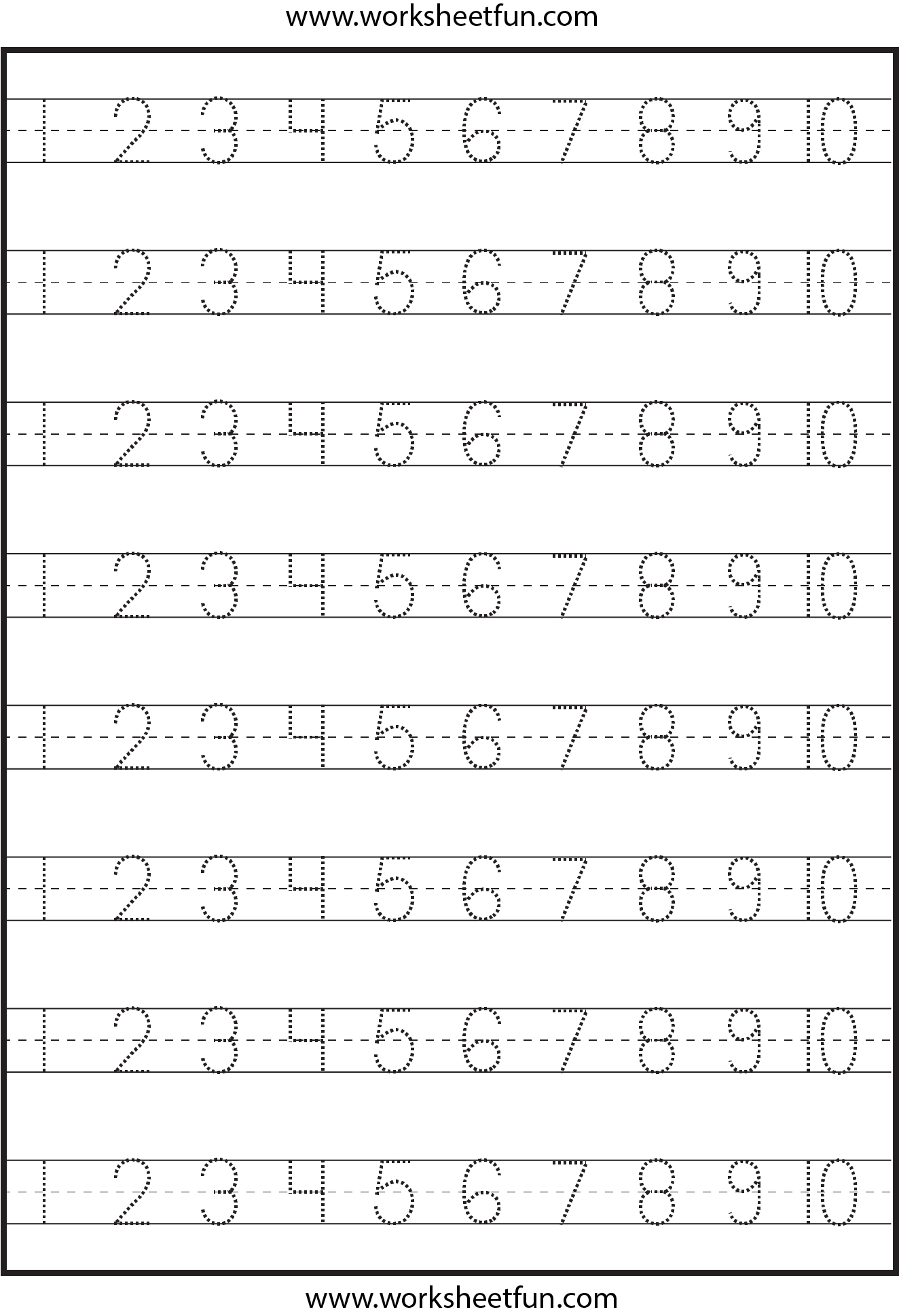 Number Tracing 1 10