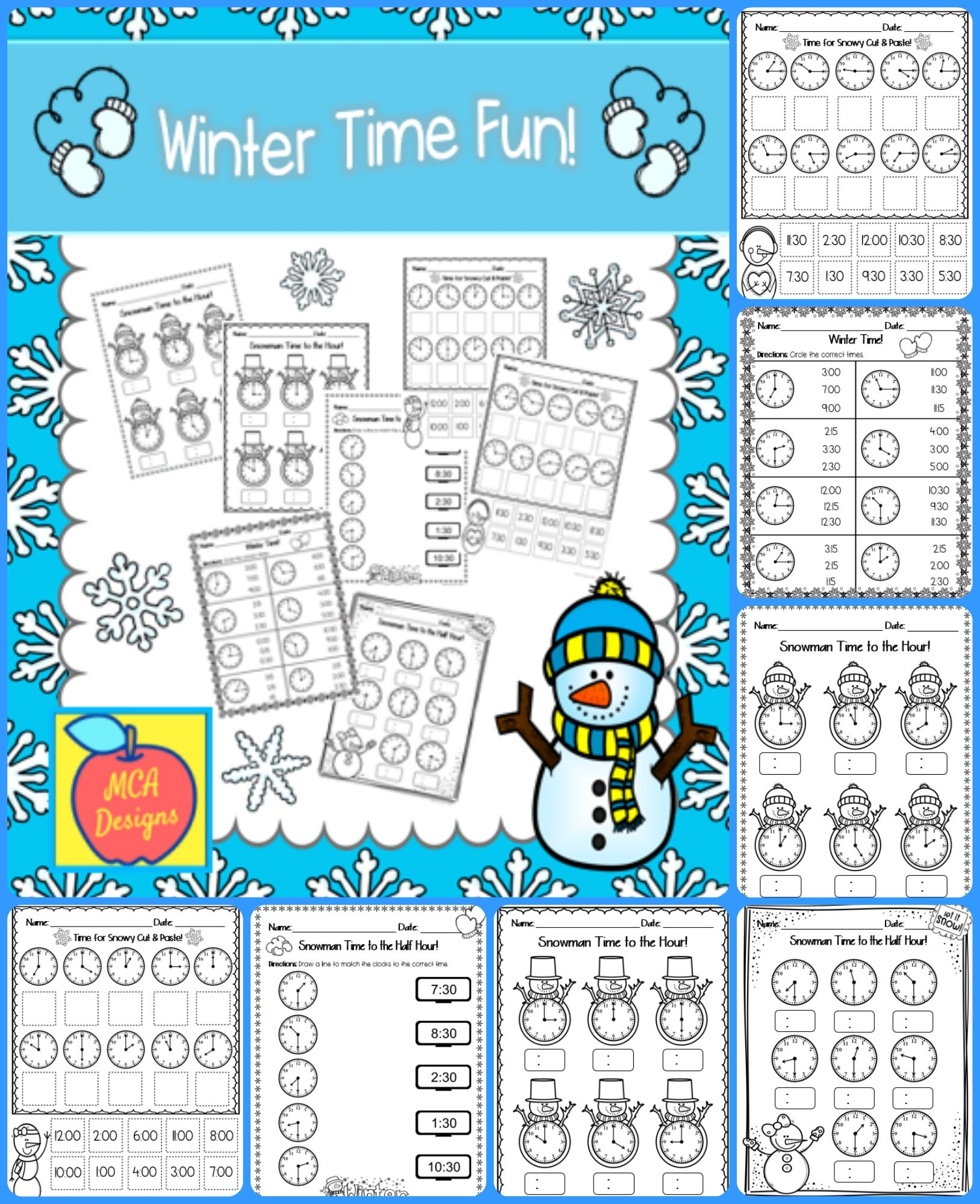 8 Best Telling Time To Hour And Half Worksheets Images On