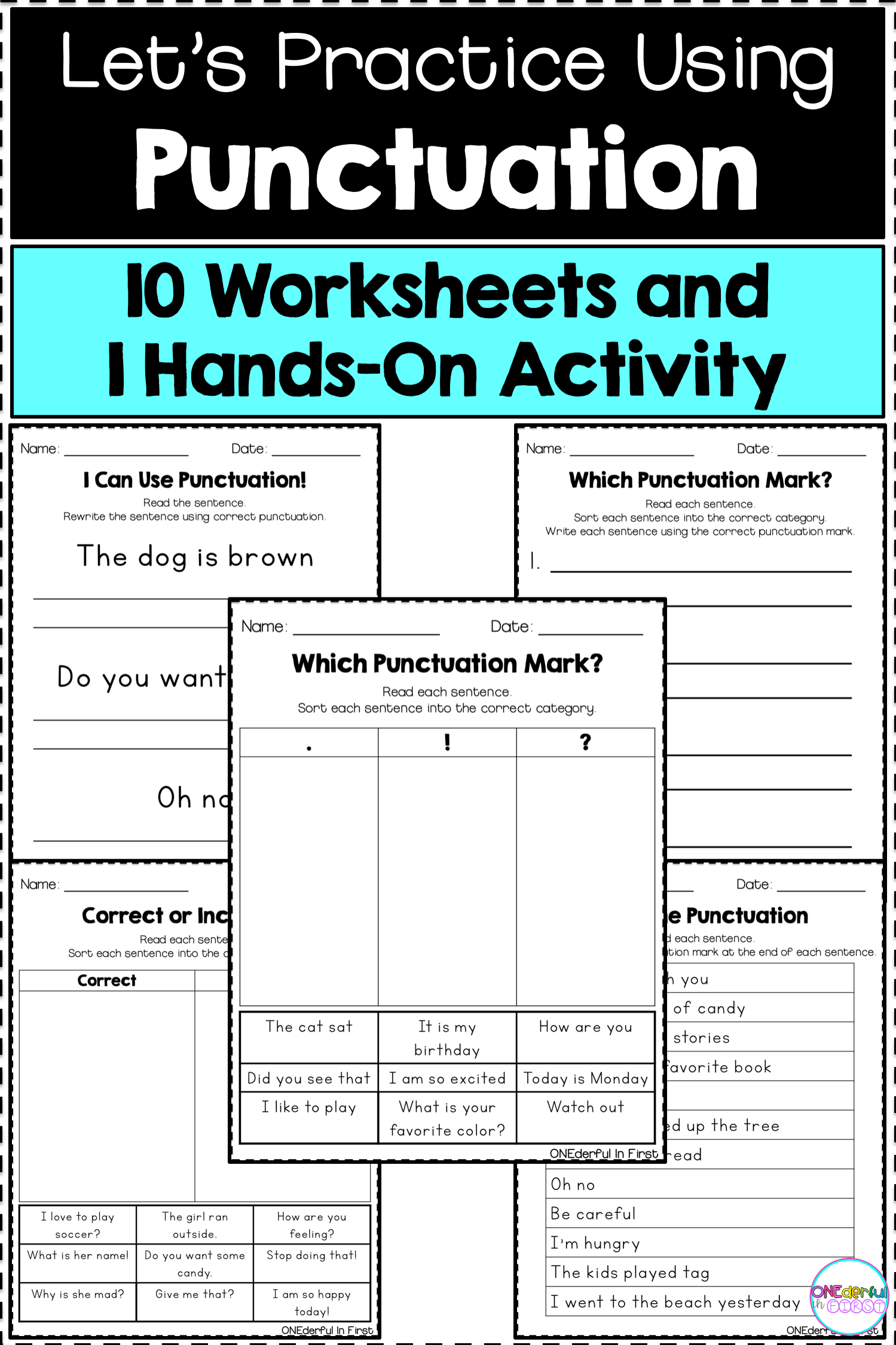 9 Best Punctuation Worksheets Kindergarten Images On Best