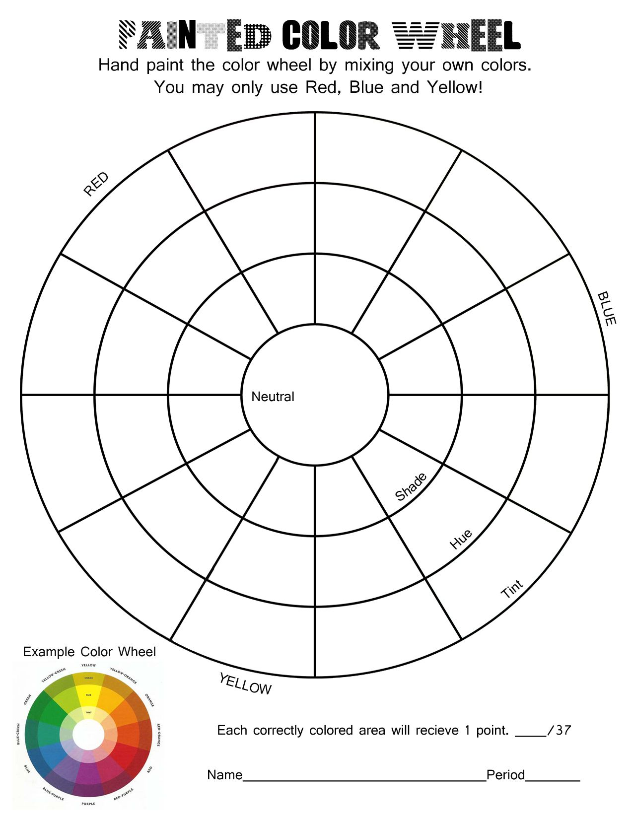 Color Theory Sheet