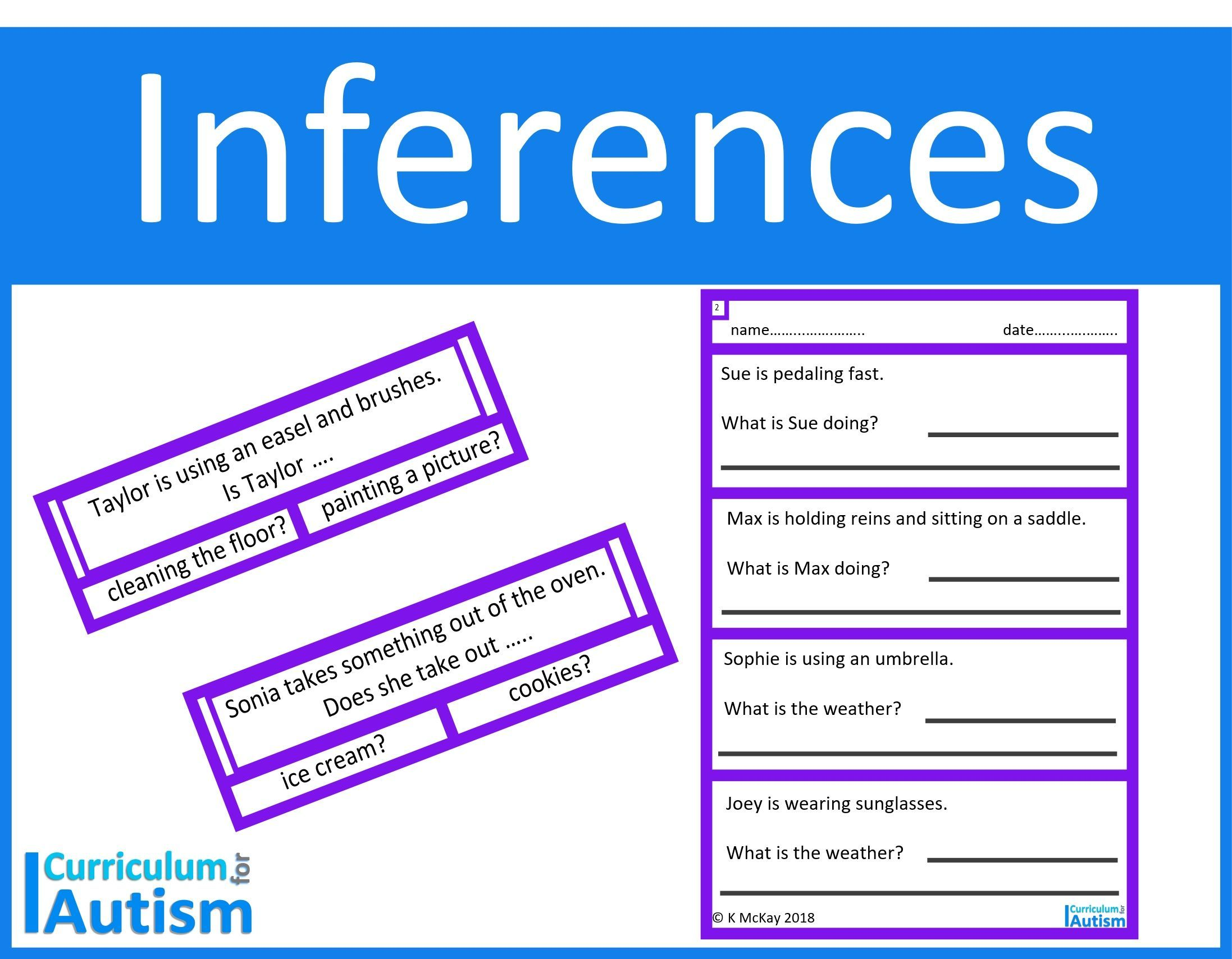 10 Best Making Inferences Reproducible Worksheets Images