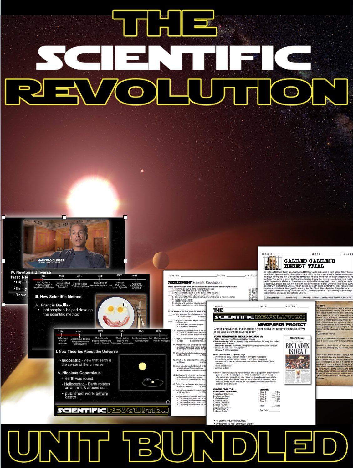 Scientific Revolution Unit Ppts Worksheets Project