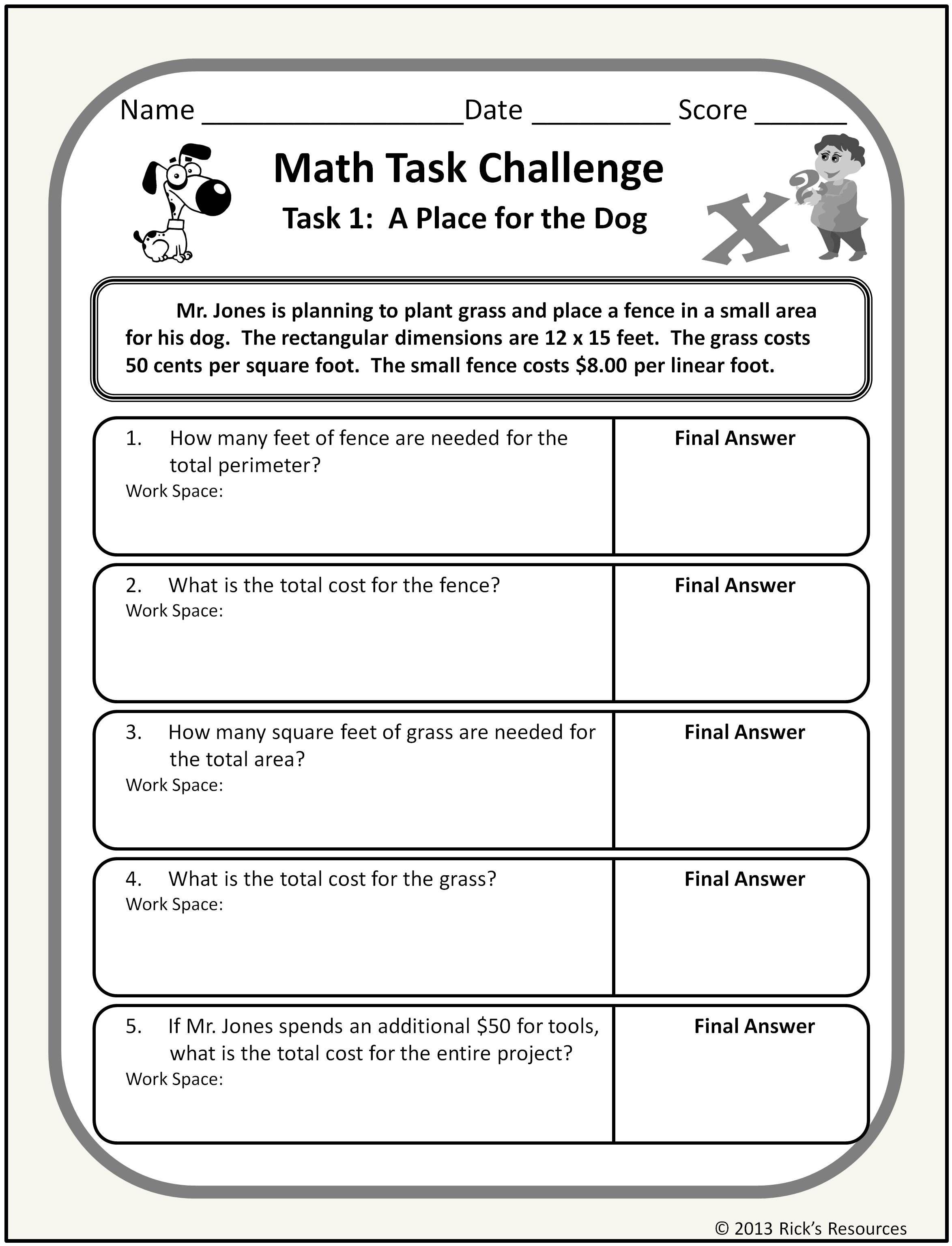 15 Best Math Worksheets Multiplication Word Problems