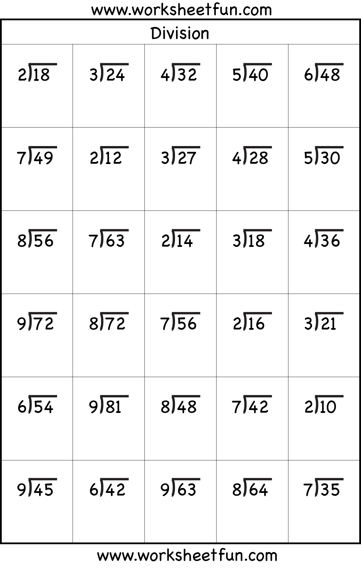 17 Best Worksheets Printable Division With Remainders