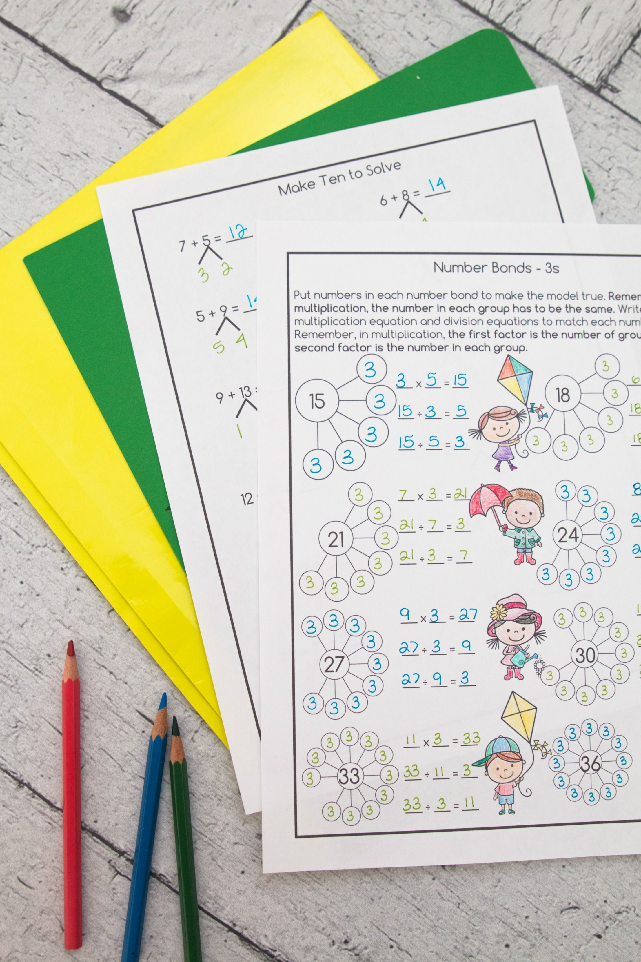 10 Best Multiplication And Division Fact Worksheets Images