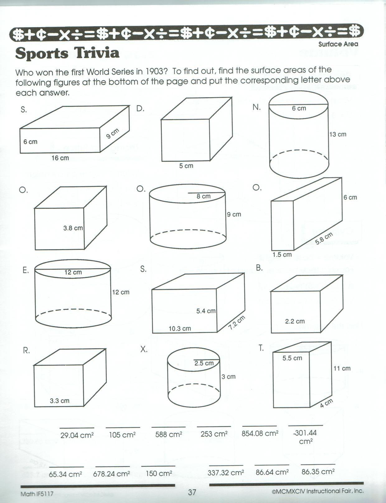 12 Best Volume Worksheets Grade 5 Images On Best