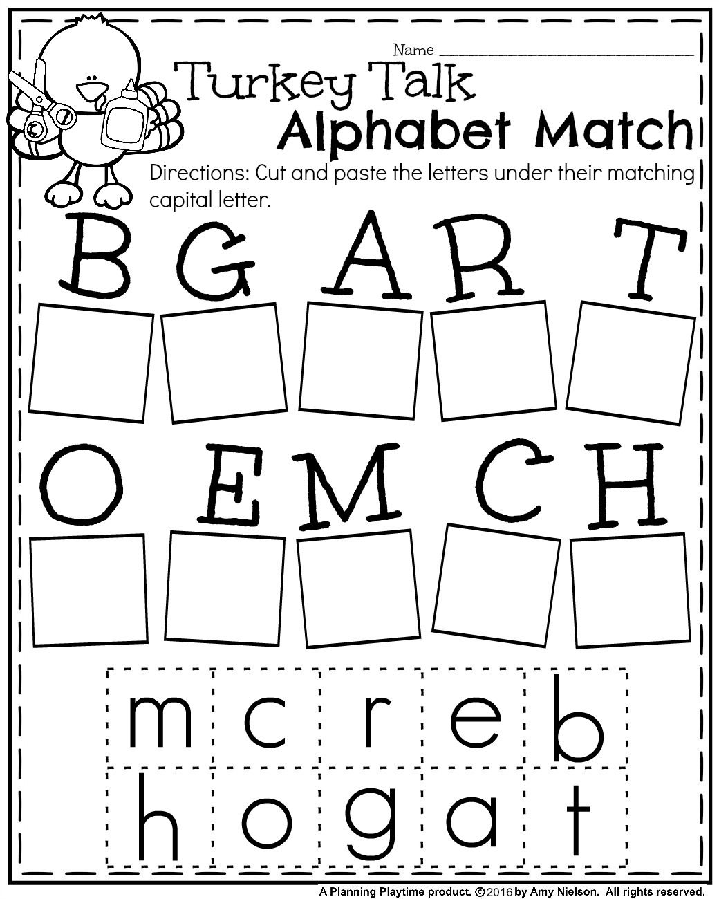 Fall Kindergarten Worksheets For November