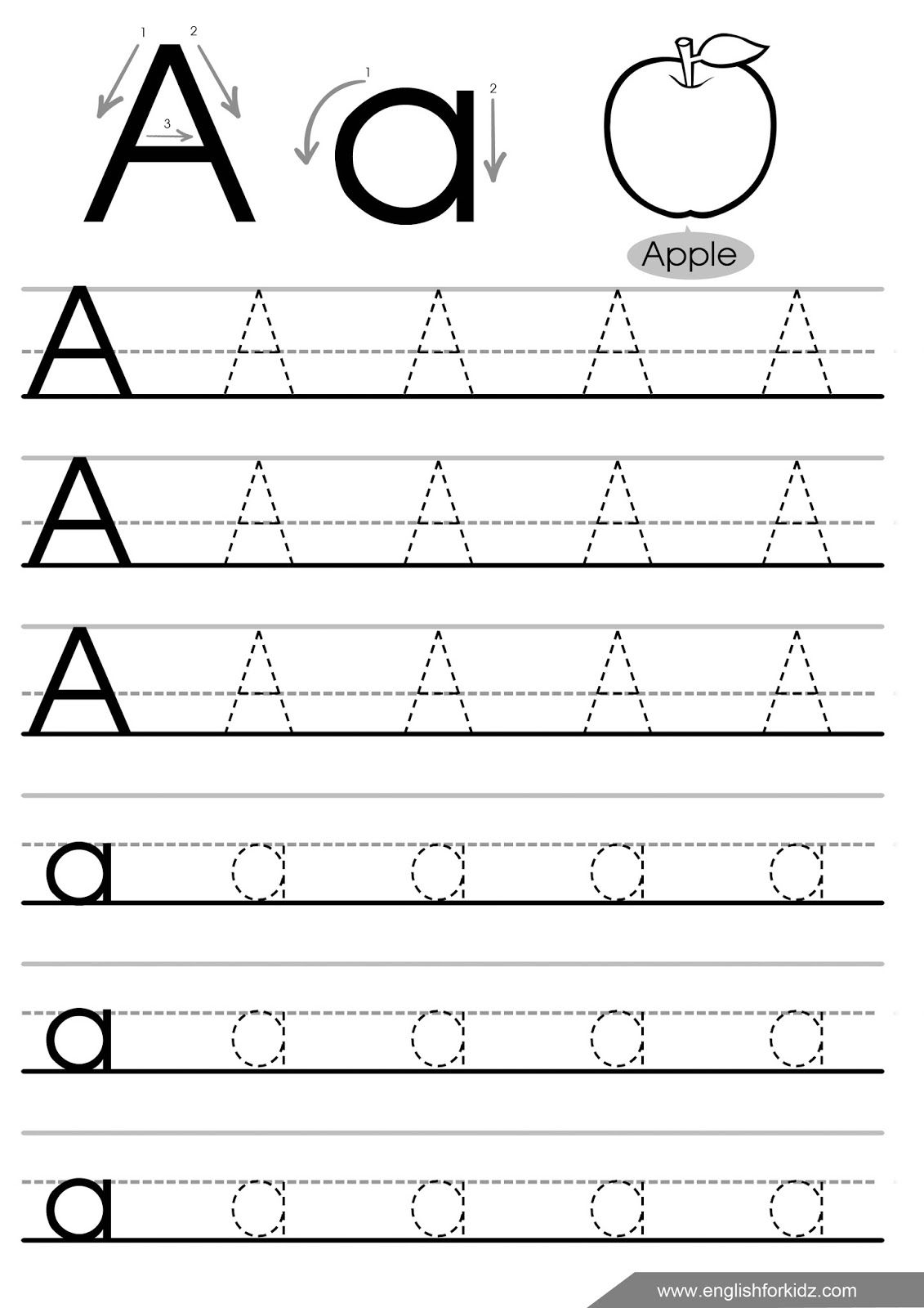16 Best Single Tracing Letters Worksheets Images On Best
