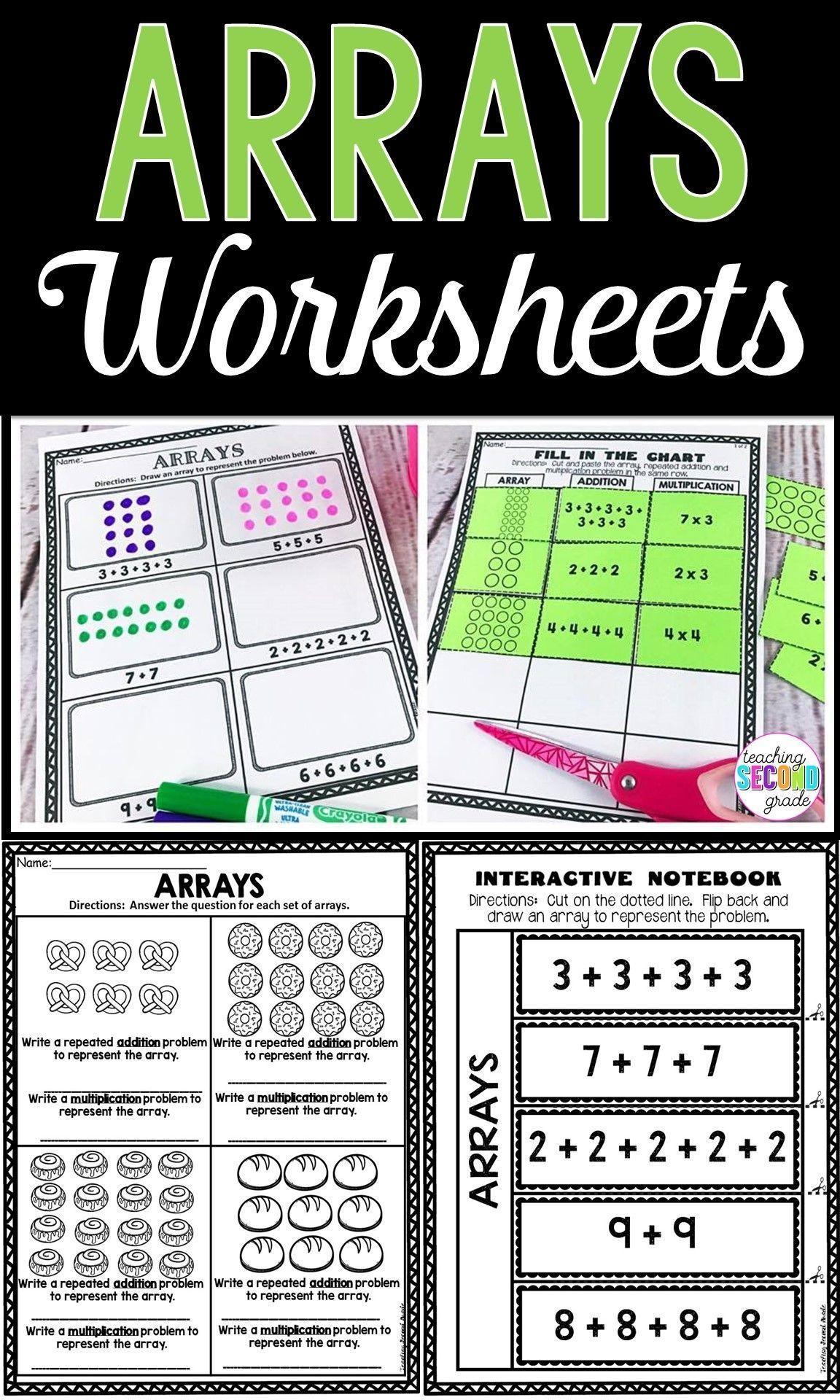 12 Best Multiplication Array Worksheets 3rd Grade Images