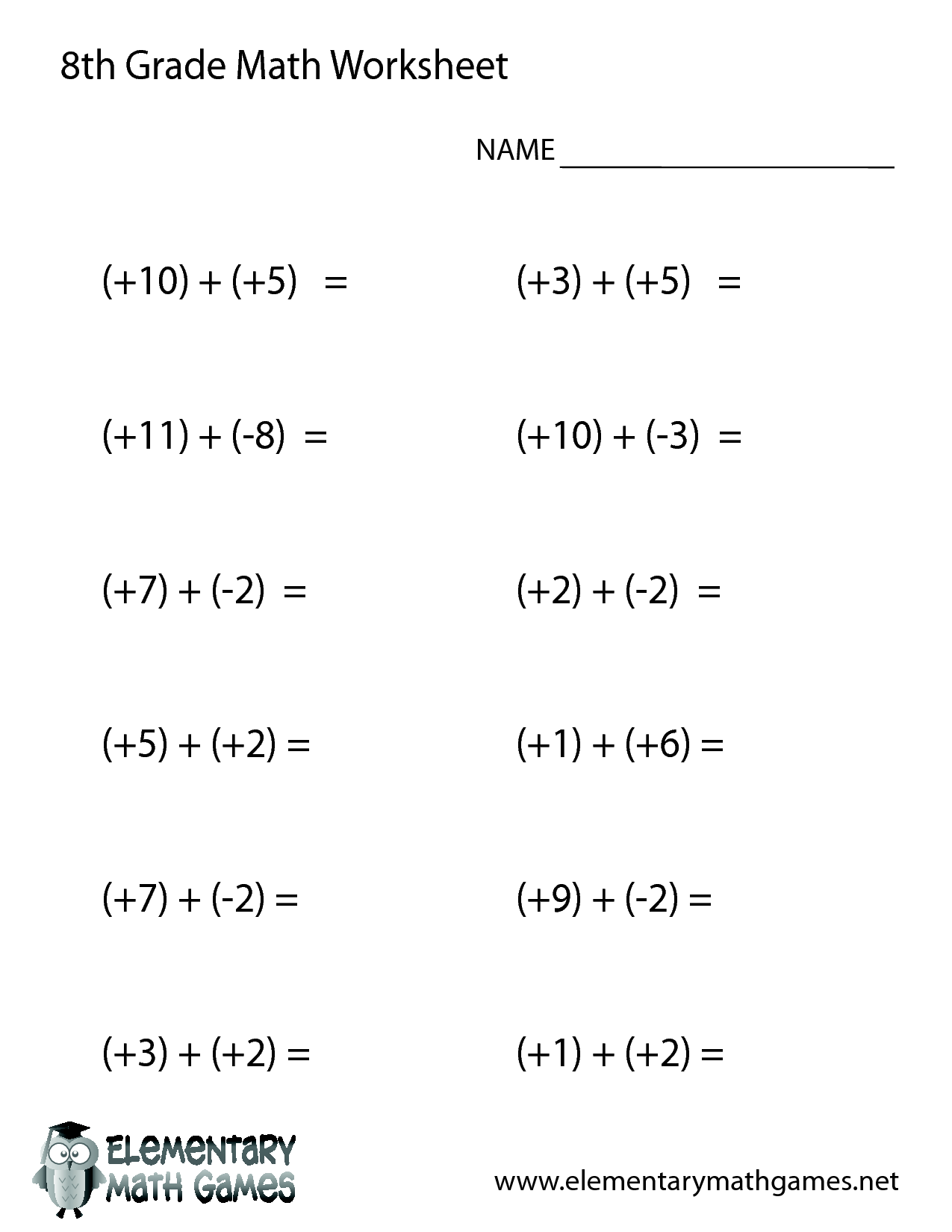 13 Best 9th Grade Math Worksheets Problems Images On Best