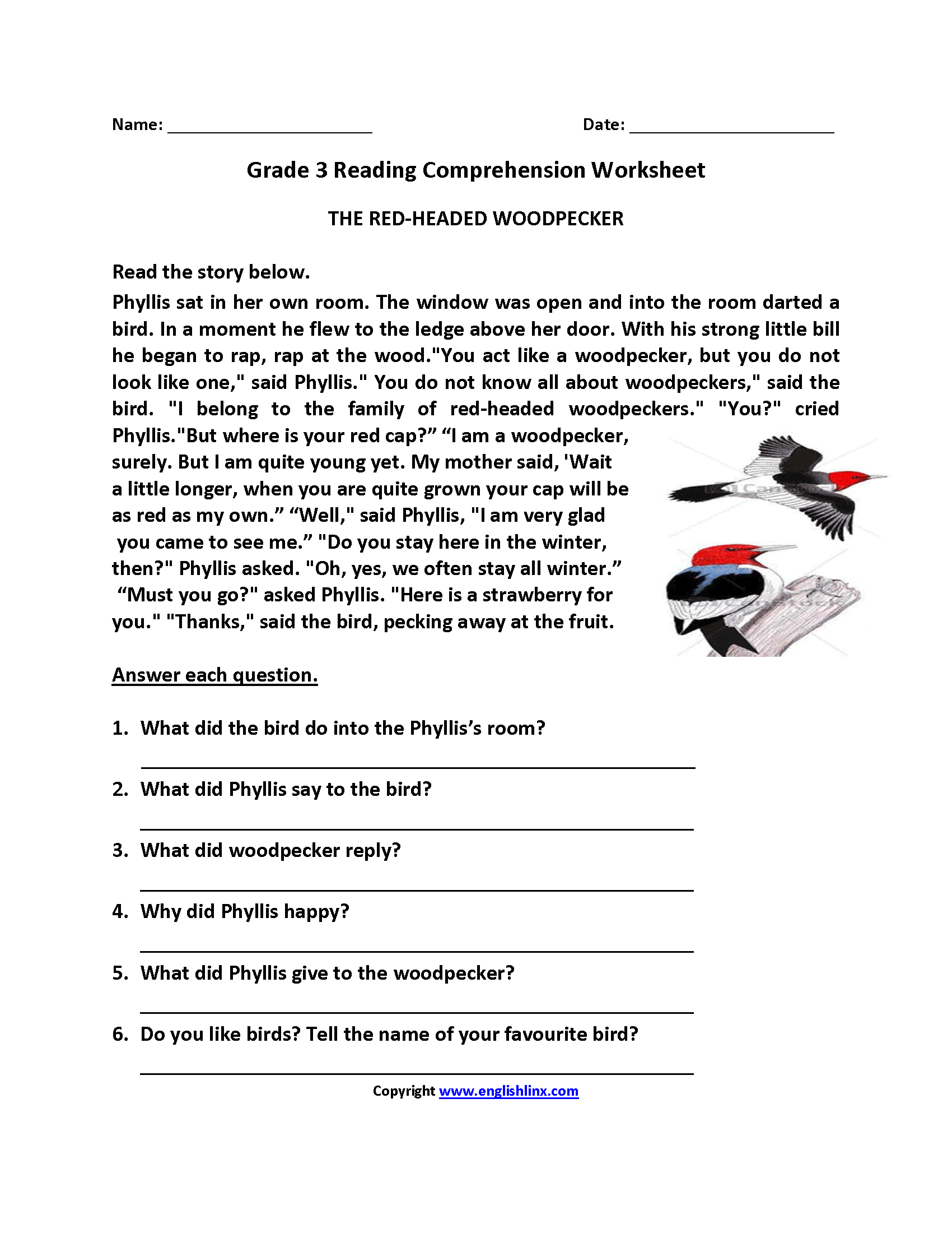 24 Best 8th Grade Reading Worksheets With Questions Images