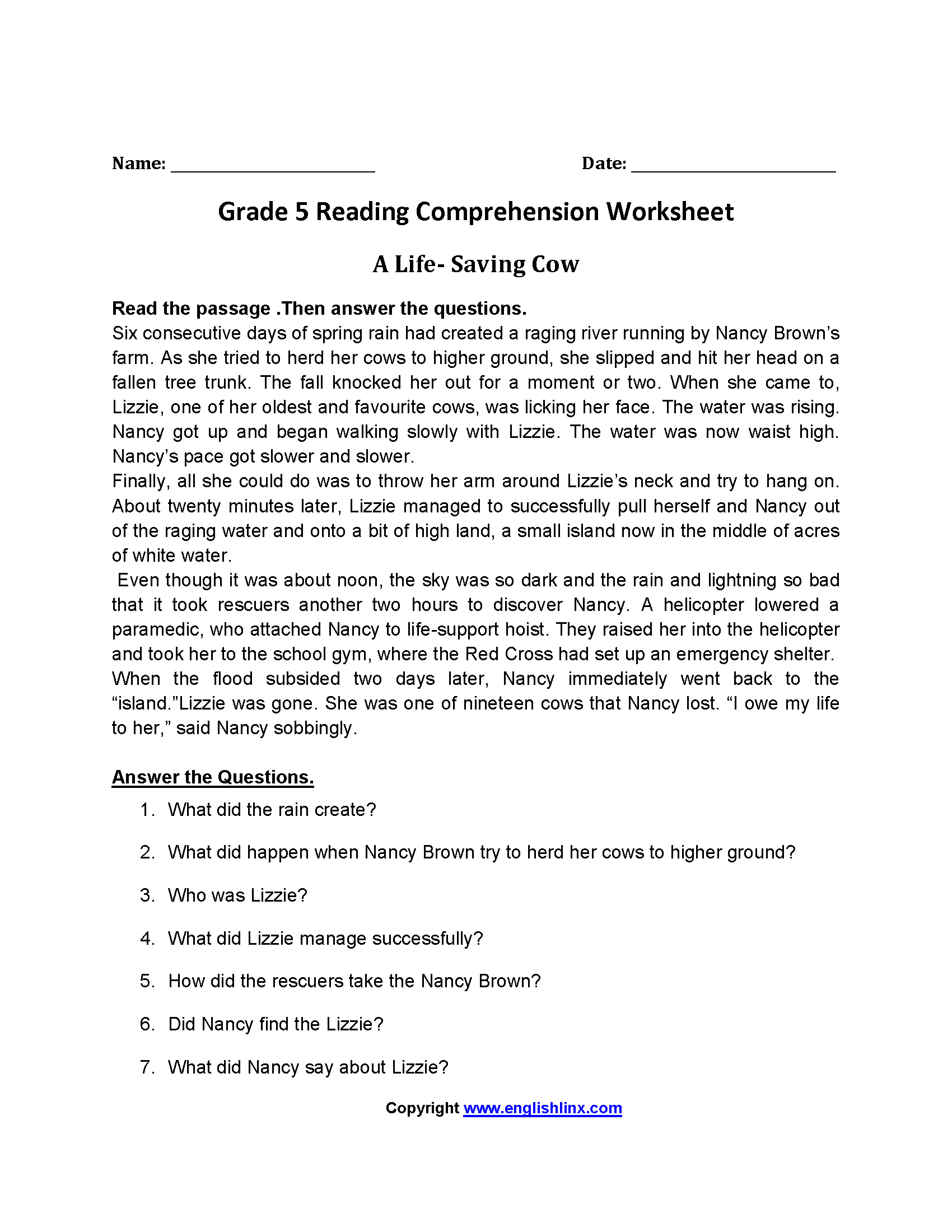 19 Best Reading Worksheets Images On Best Worksheets