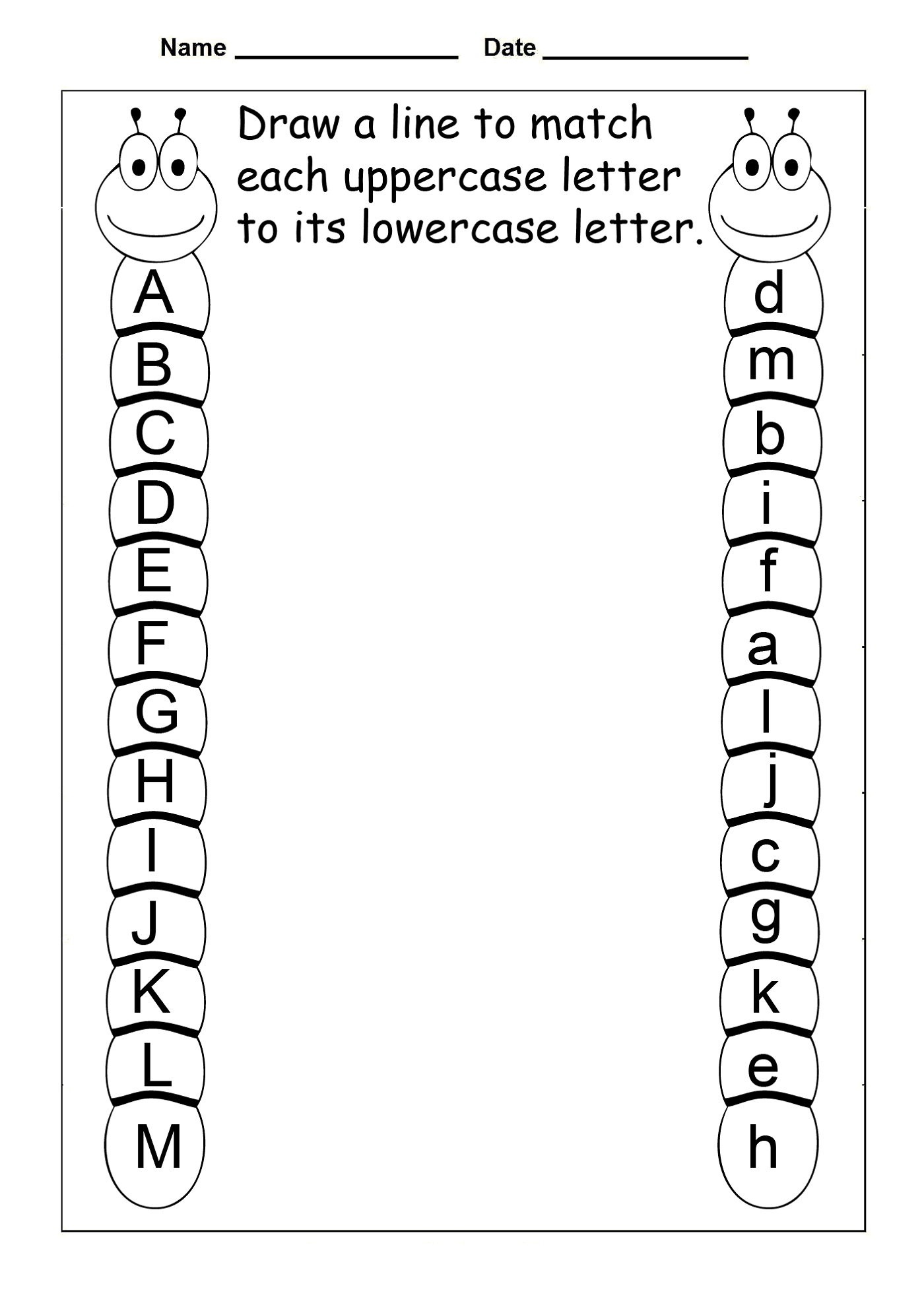 Preschool Worksheets Free Uppercase And Lowercase Letters