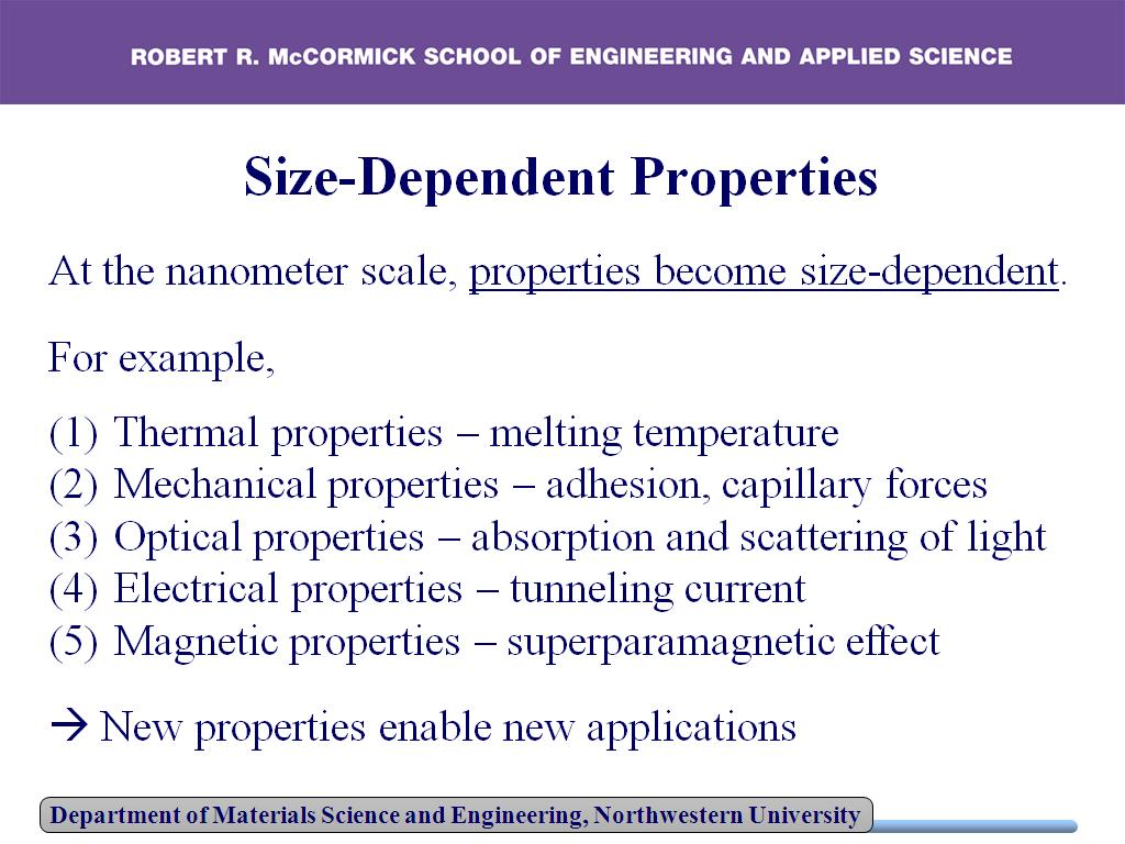 Size Dependent Property