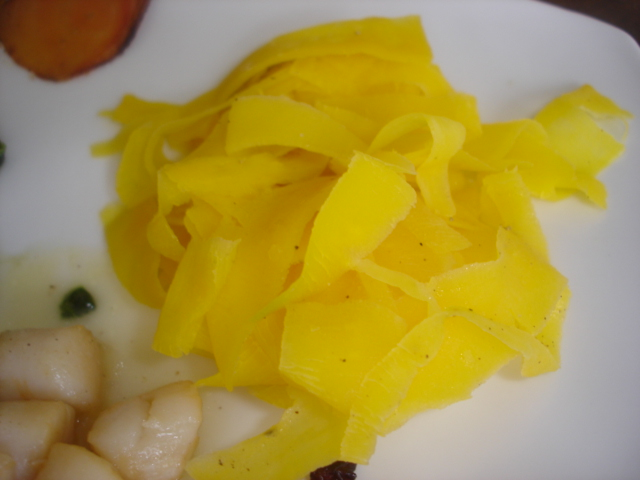 tagliatelles de Yellow carotts