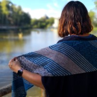 Mon Écharpe Mousson l'histoire d'un tricot.