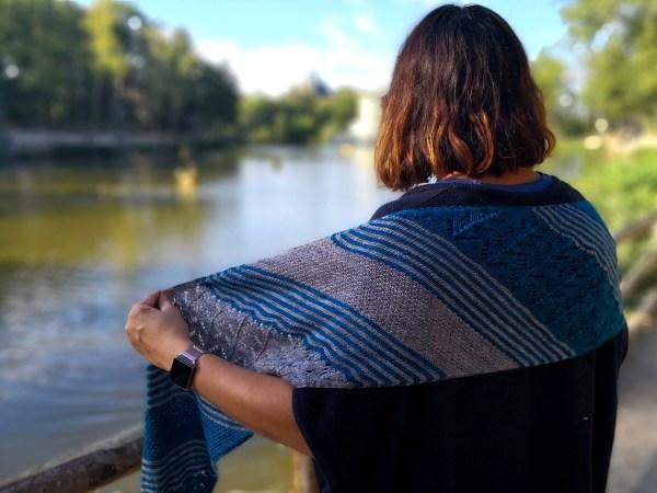 tricot echarpe Mousson