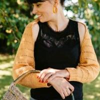 Mon cache épaule Été l'histoire d'un tricot.