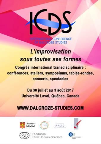 flyer congrès international 30 juillet au 3 août 2017 Québec:Can