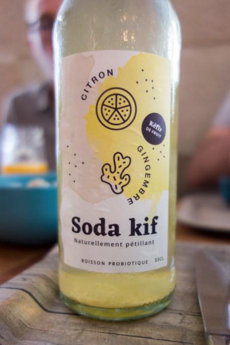 soda au kéfir, citron et gingembre