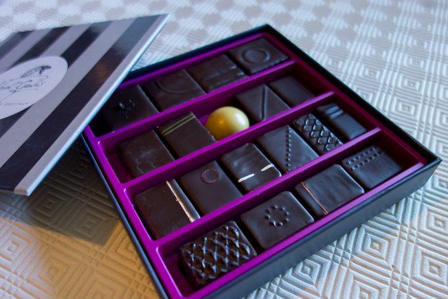 assortiment de chocolats maître chocolatier