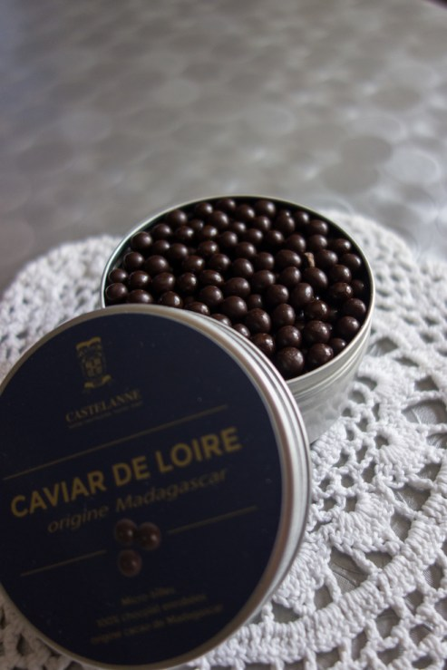 billes de chocolat noir