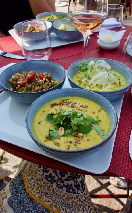 plats végétariens au restaurant le christophe à la baule
