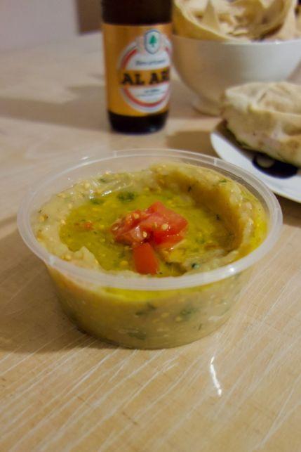 caviar d'aubergine, tomate et persil