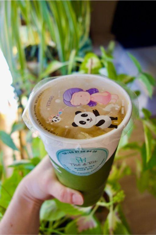 bubble tea aux fruits exotiques