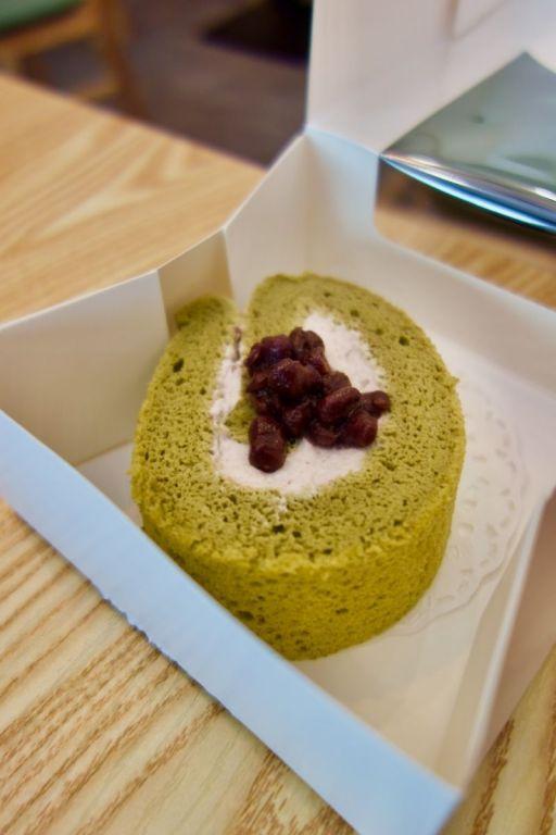 gâteau roulé matcha et azuki