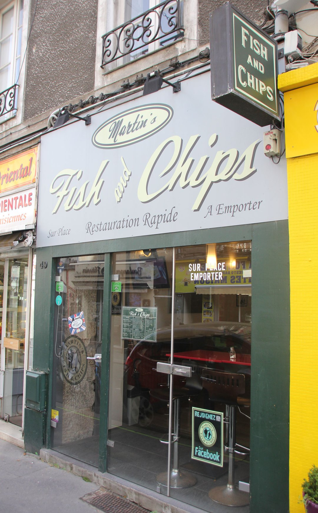 Martin's fish and chip shop