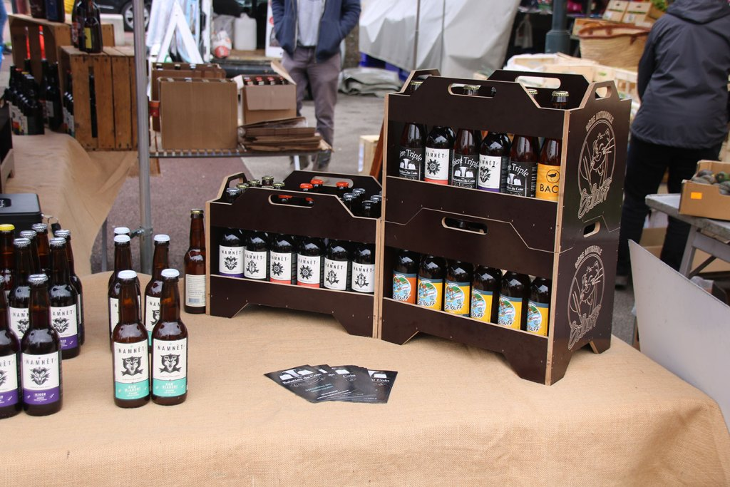Local craft Beers at the market