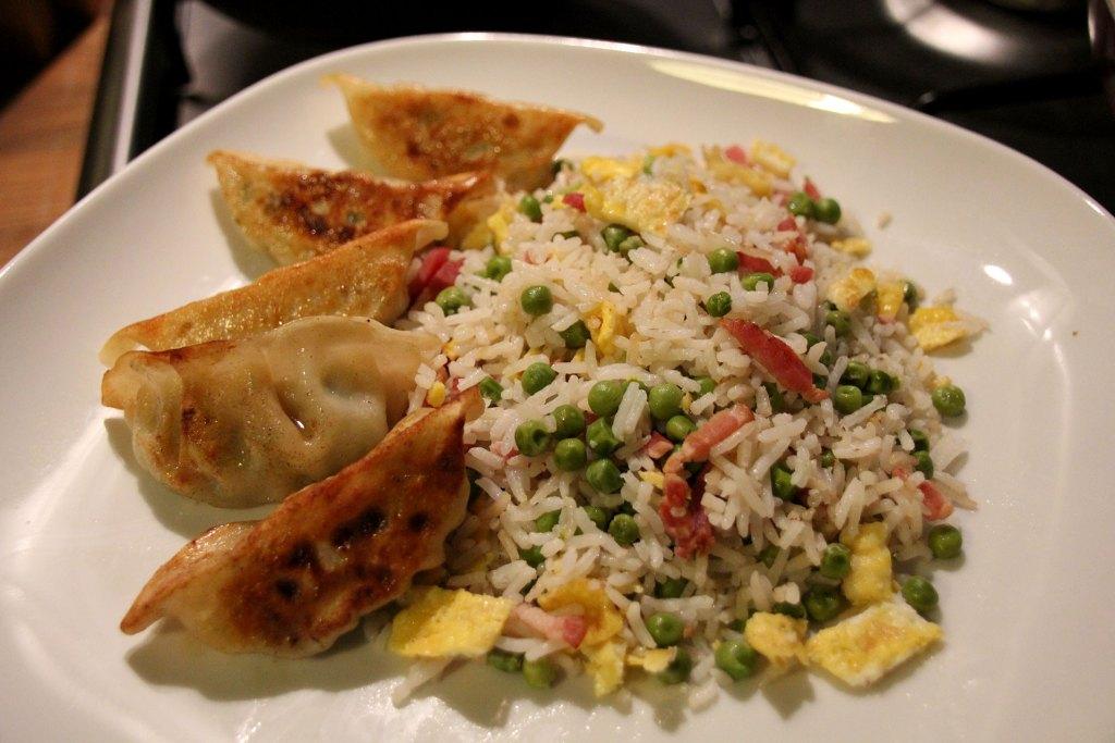 Jimmys Egg Fried Rice With Gyoza