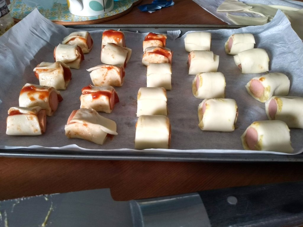 Sausage Rolls On A Tray