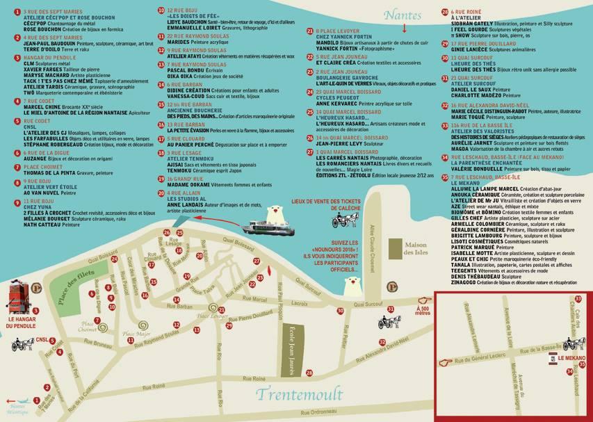 Map of Les Flâneries de Noël