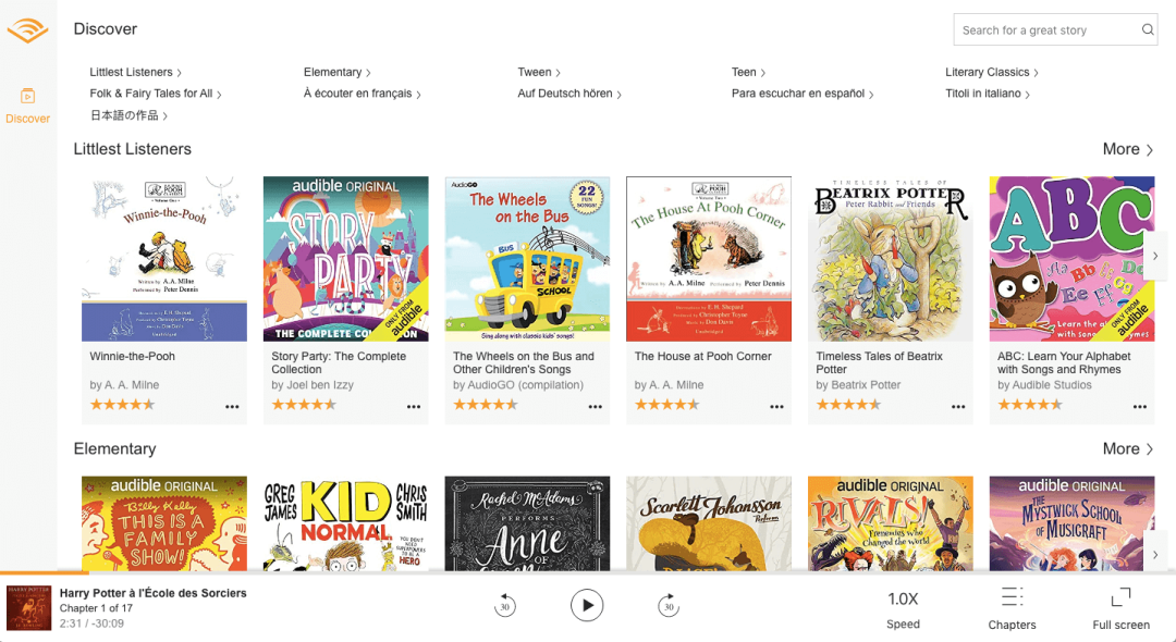 Audible Kids Selection