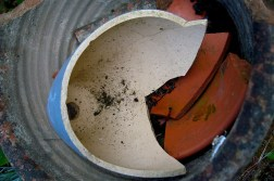broken clay